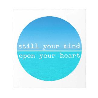 Bloc De Notas La cita de la meditación todavía importa del