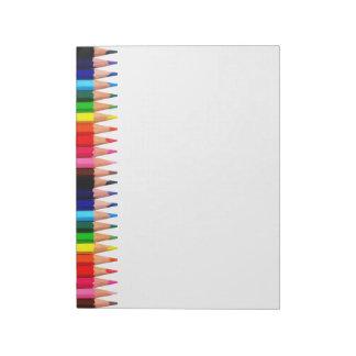 Bloc De Notas Lápices coloreados