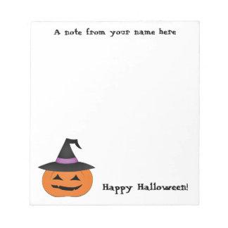 Bloc De Notas Linterna del enchufe o de Halloween con el gorra d