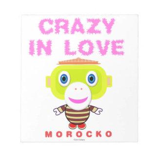 Bloc De Notas Loco en Mono-Morocko amor-Lindo