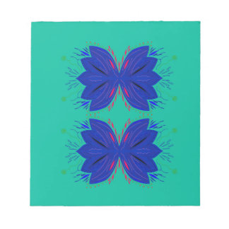 Bloc De Notas Los elementos del diseño acuñan el azul