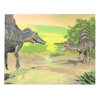 Bloc De Notas Lucha de los dinosaurios de Spinosaurus - 3D