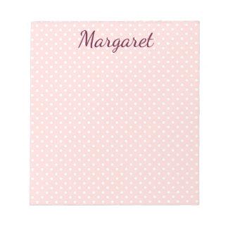 Bloc De Notas Lunares rosa y blanco