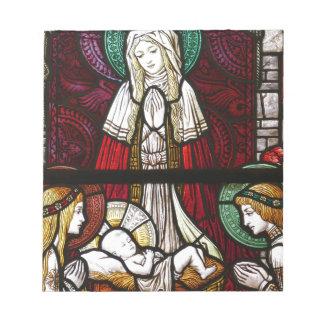 Bloc De Notas Madre Maria y Jesús de Vitrage del navidad
