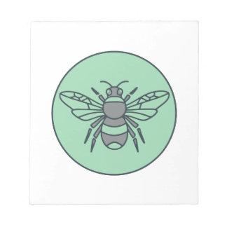Bloc De Notas Manosee línea del círculo de la abeja la mono