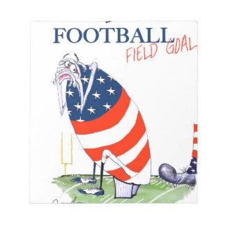 Bloc De Notas Meta de campo de fútbol, fernandes tony