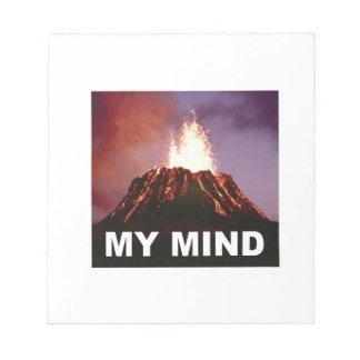 Bloc De Notas mi mente del volcán