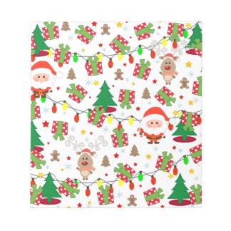 Bloc De Notas Modelo de Santa y de Rudolph