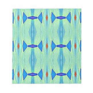 Bloc De Notas Modelo en colores pastel azulverde de la menta
