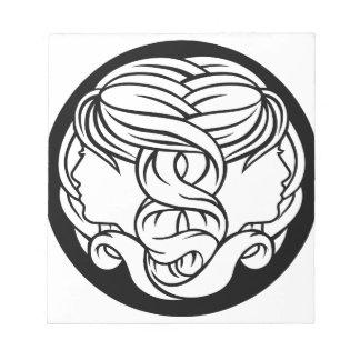 Bloc De Notas Muestra de la astrología del zodiaco de los
