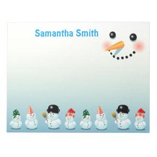 Bloc De Notas Muñecos de nieve escarchados frescos