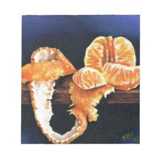 Bloc De Notas Naranja, pelado