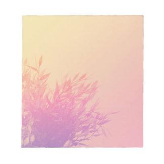 Bloc De Notas Naturaleza de la planta de Ombre que crece que