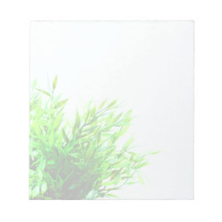 Bloc De Notas Naturaleza de la planta verde que crece que