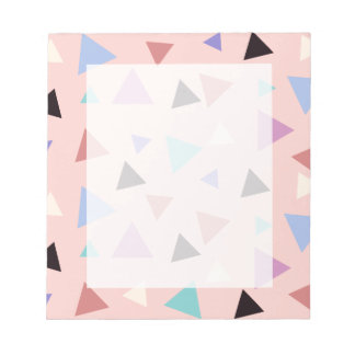 Bloc De Notas Negro púrpura de la menta del rosa geométrico