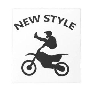 Bloc De Notas Nuevo estilo de la bici