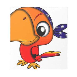 Bloc De Notas Pájaro enorme del dibujo animado del pico