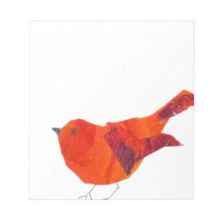 Bloc De Notas Pájaro rojo lindo