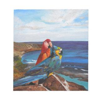 Bloc De Notas Pájaros tropicales que pasan por alto la bahía