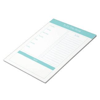 Bloc De Notas Para hacer esta semana - planificador semanal -