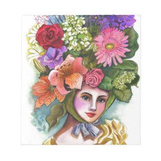Bloc De Notas Pensamientos en flor