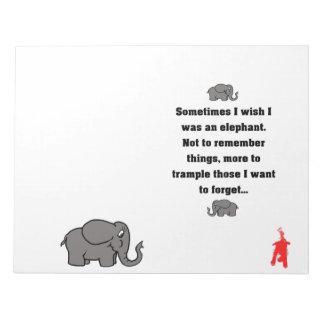 """Bloc De Notas perrito rojo """"deseo a veces… el elefante """""""