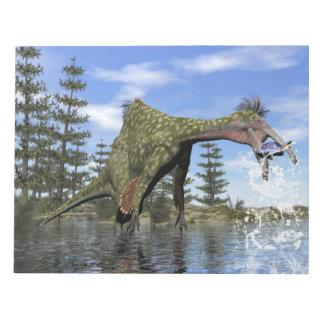 Bloc De Notas Pesca del dinosaurio del Deinocheirus - 3D rinden