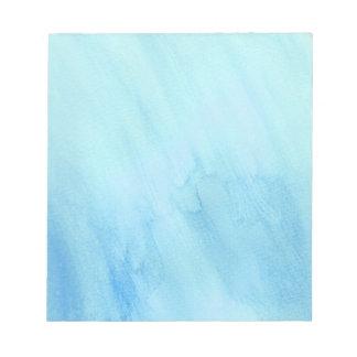 Bloc De Notas Pintura azul de la acuarela de la precipitación