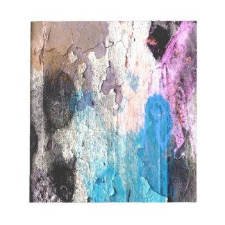 Bloc De Notas Pintura de la peladura en azul, púrpura, rosa