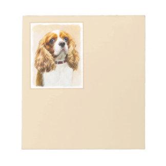 Bloc De Notas Pintura original arrogante del perro de aguas de
