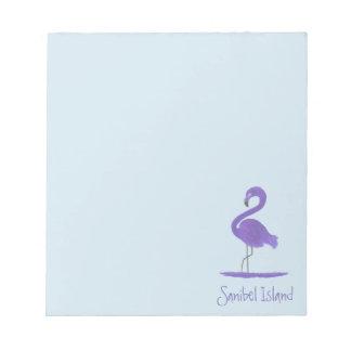 Bloc De Notas Pintura púrpura del flamenco - bella arte del
