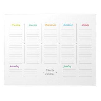 Bloc De Notas Planificador semanal retro simple