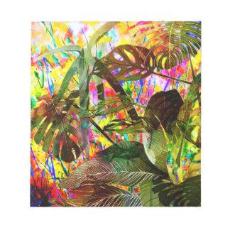 Bloc De Notas Plantas tropicales y flores