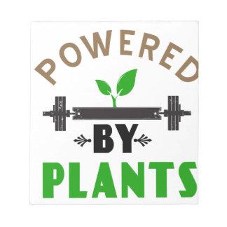 Bloc De Notas poder por diseño lindo de las plantas