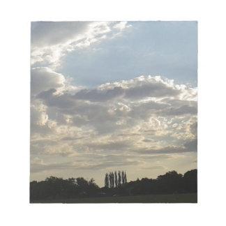 Bloc De Notas Porciones de nubes