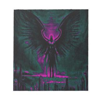 Bloc De Notas Púrpura angelical y trullo del guarda