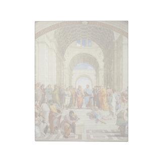 Bloc De Notas Raphael - La escuela de Atenas 1511