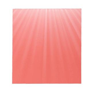 Bloc De Notas rayos rojos