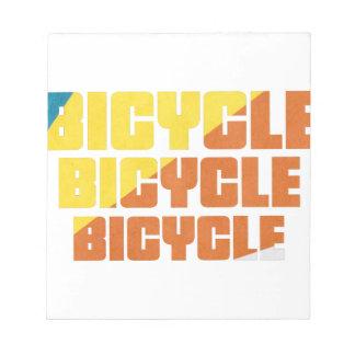 Bloc De Notas Raza de la bicicleta de la reina