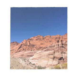 Bloc De Notas Rocas rojas y cielos azules