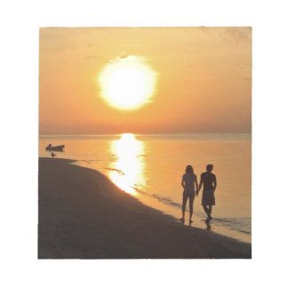 Bloc De Notas Salida del sol de Bali en la playa