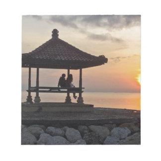 Bloc De Notas Salida del sol de Beautidul en Bali