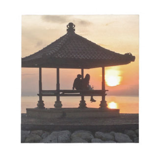 Bloc De Notas Salida del sol en Bali