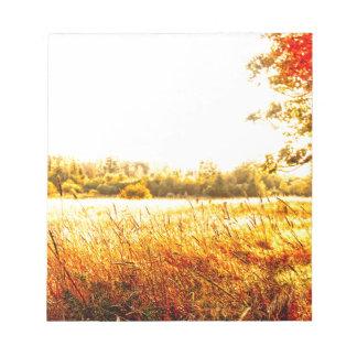 Bloc De Notas Salida del sol hermosa del prado