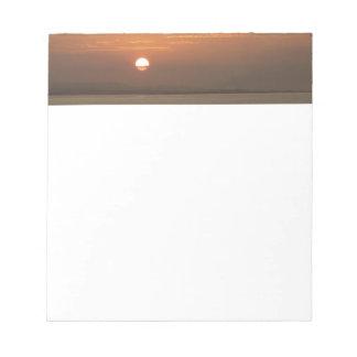 Bloc De Notas Salida del sol sobre el paisaje marino de Aruba I