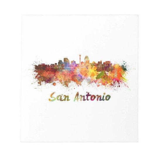 Bloc De Notas San Antonio skyline in watercolor