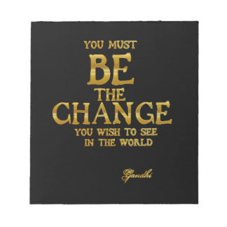 Bloc De Notas Sea el cambio - cita inspirada de la acción de