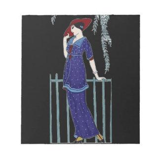 Bloc De Notas Señora elegante de los años 20 de la moda de París