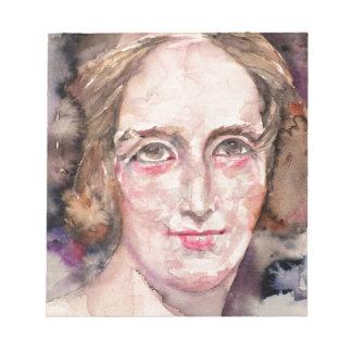 Bloc De Notas shelley de Maria - retrato de la acuarela
