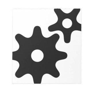 Bloc De Notas Símbolo del planeamiento-pensamiento-work de los